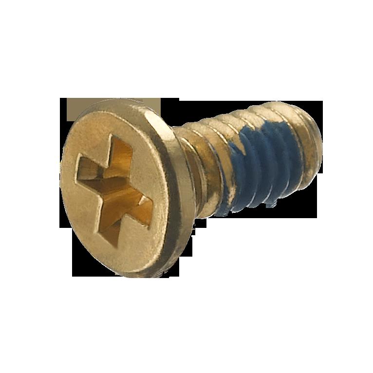 平头十字M1.4X3.0镀金防滑螺丝